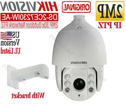 Hikvision 2MP 30X Network IR PTZ Camera with Wall Mount brac