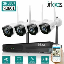 ANRAN 8CH 1080P Security Camera System Wireless with 1TB Har