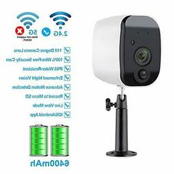 Fuvision Battery Powered Outdoor Security Camera,Wire-Free