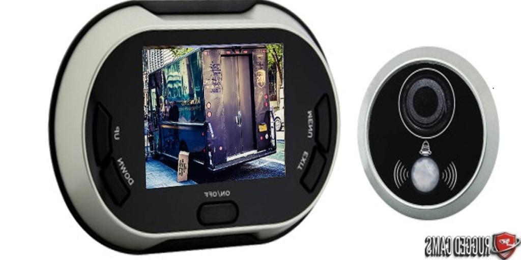 """Rugged Cams 3.5"""" Color LCD Delivery Door Camera Viewer & Pho"""