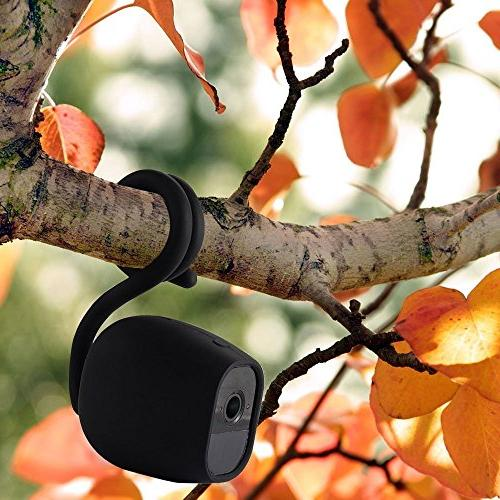 EEEKit Flexible Tripod Twist Mount with Protective Cover for Pro/Arlo 2 Smart Security Camera, Attach Anywhere Outdoor