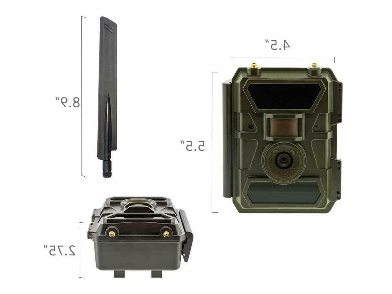 Remote Scout Cellular 4G Outdoor Trail Camera Required