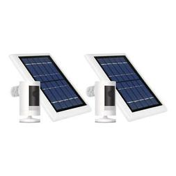 Ring Stick Up Cam Battery w/ Solar Panel Bundle Security Cam