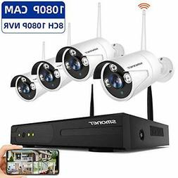 SMONET Wireless Security Camera Systems,8-Channel Full HD 10