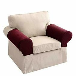 Womdee Stretch Sofa Armrest Covers, Anti-Slip Couch Armrest