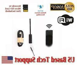 720p HD WIFI PINHOLE SPY CAMERA with Motion Detection, DC or