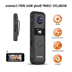 BOBLOV WIFI Wireless Body 30fps Video Recorder Motion Detect